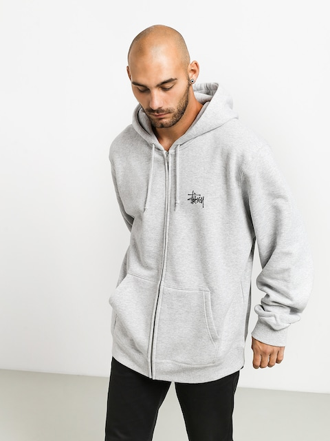 Mikina s kapucí Stussy Basic ZHD (ash heather)