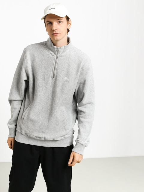 Mikina Stussy Stock Fleece Mock (grey heather)