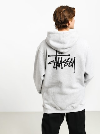 Mikina s kapucí Stussy Basic HD (ash heather)