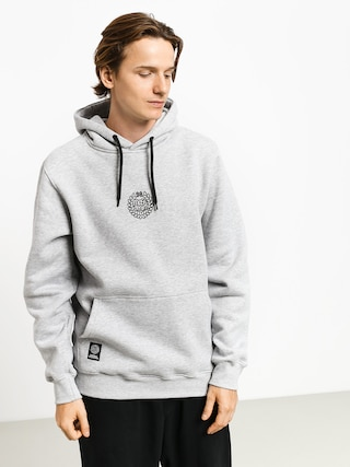Mikina s kapucí MassDnm Base Small Logo HD (light heather grey)