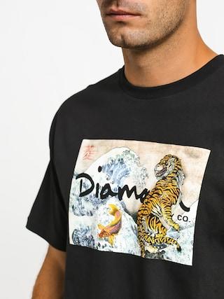 Tričko Diamond Supply Co. Tiger Wave (black)