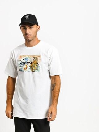 Tričko Diamond Supply Co. Tiger Wave (white)