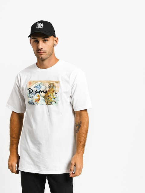 Tričko Diamond Supply Co. Tiger Wave (white)