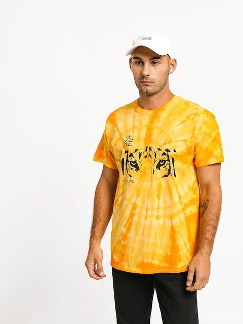 Tričko Diamond Supply Co. Tiger Eye Spider Dye (gold)