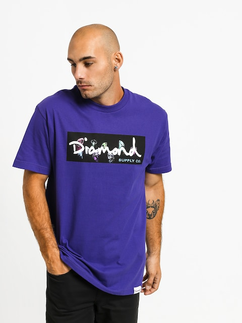 Tričko Diamond Supply Co. Color Box Logo (purple)
