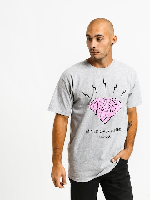 Tričko Diamond Supply Co. Headstrong (heather grey)