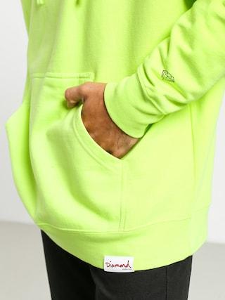 Mikina s kapucí Diamond Supply Co. Color Box Logo HD (safety green)