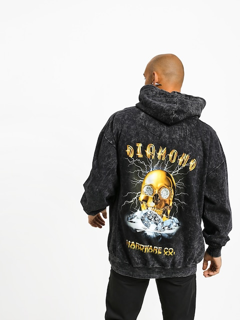 Mikina s kapucí Diamond Supply Co. Gold Skull HD (black)