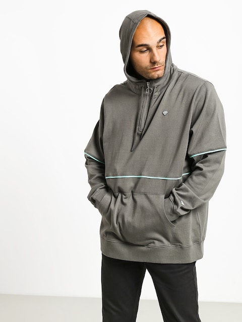 Mikina s kapucí Diamond Supply Co. Hard Cut HD (grey)