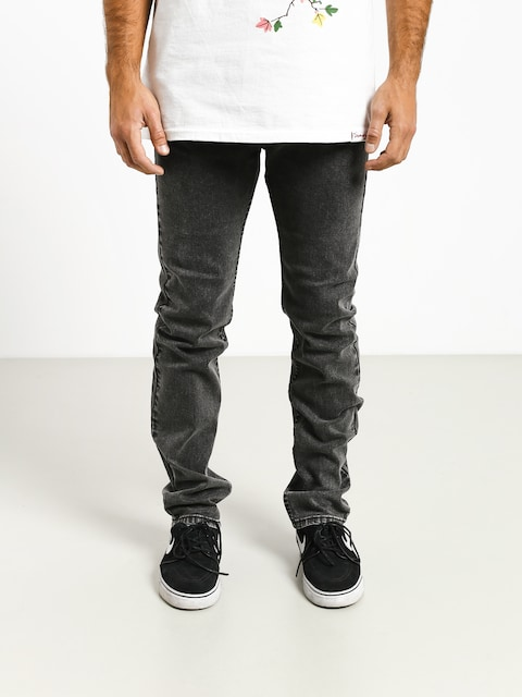 Kalhoty MassDnm Classics Jeans Straight Fit (black stone washed)