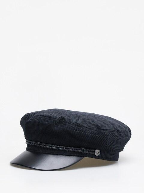 Klobouk s kšiltem Brixton Bosmanka Fiddler ZD (black/black leather)