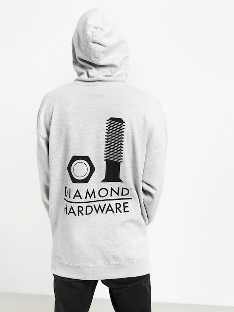 Mikina s kapucí Diamond Supply Co. Secured HD (heather grey)