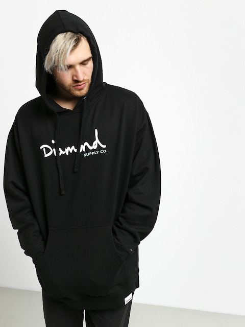 Mikina s kapucí Diamond Supply Co. Shimmer Og Scrpit HD (black)