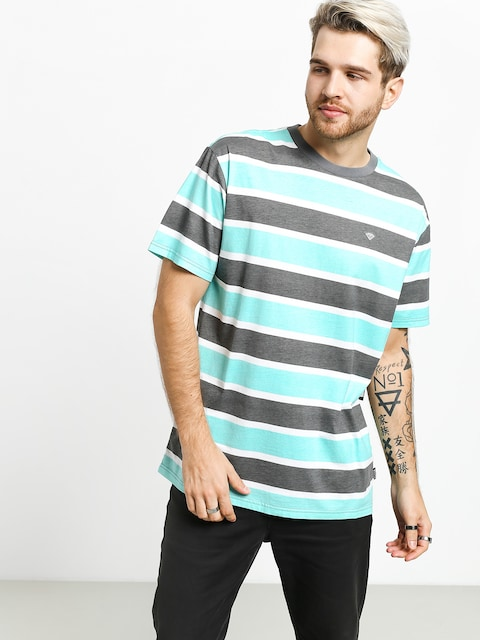 Tričko Diamond Supply Co. Hard Cut Striped (grey)