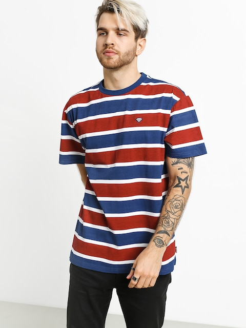 Tričko Diamond Supply Co. Hard Cut Striped (navy)