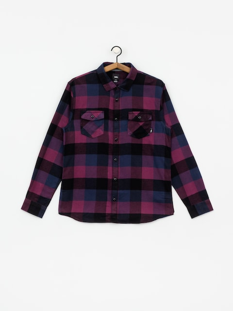 Košile Vans Box Flannel (prune/dress blues)