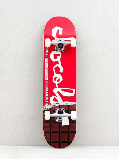 Skateboard Chocolate Anderson (dark chocolate/red/white)