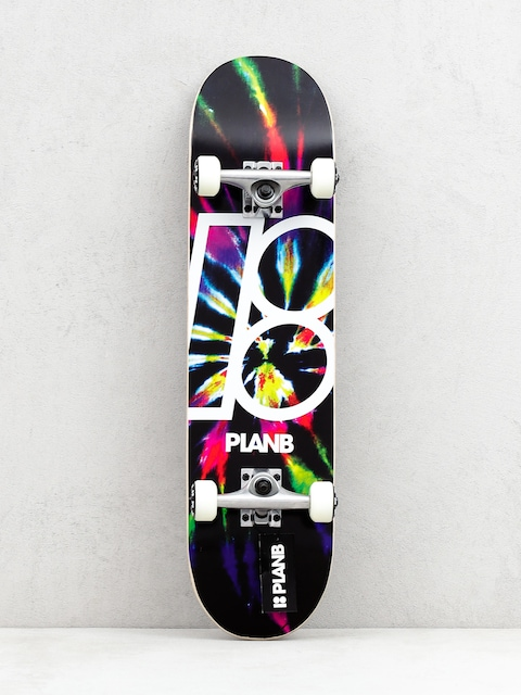 Skateboard Plan B Team Dark Dye (black/multi)