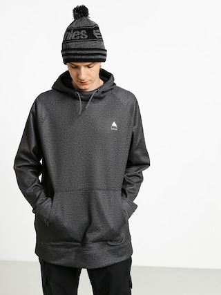 Mikina s kapucu00ed Burton Crown Bndd HD (true black heather)