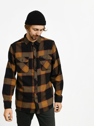 Kou0161ile Brixton Bowery Flannel Ls (black/gold)