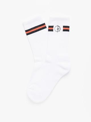 Ponožky Polar Skate Stroke Logo (white/black/orange)