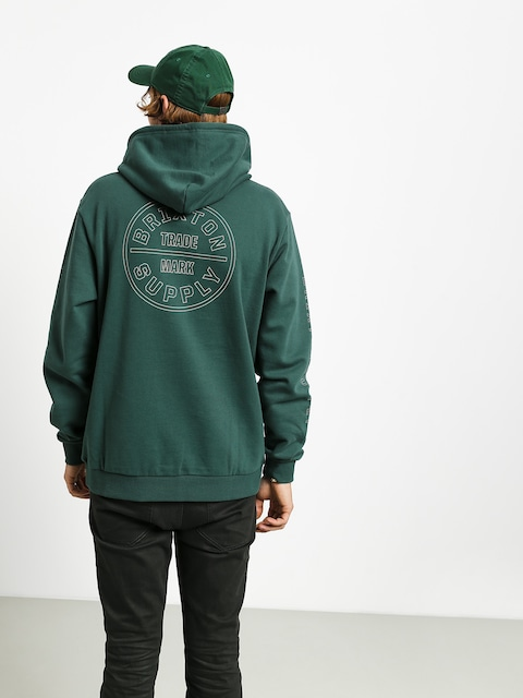 Mikina s kapucí Brixton Oath IV Intl HD (emerald)