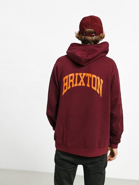 Mikina s kapucí Brixton Forte V Intl HD (maroon)