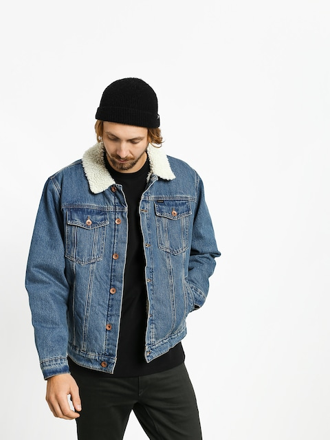Bunda Brixton Cable Sherpa Denim (worn indigo)