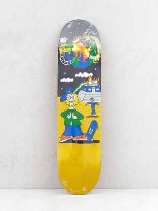 Deska Polar Skate Rozenberg Police Station (yellow/multi)