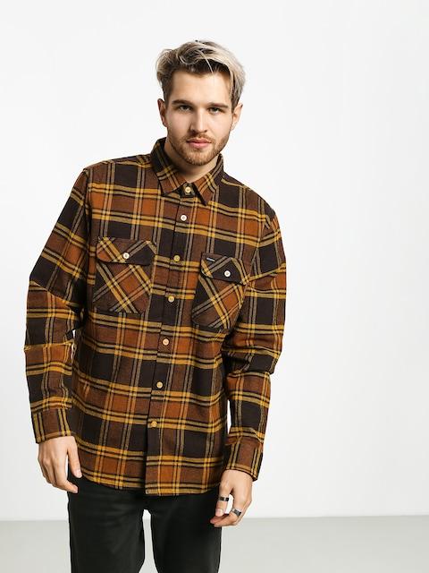 Košile Brixton Bowery Flannel Ls (brown/gold)