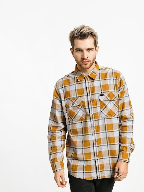 Košile Brixton Bowery Lw Flannel Ls (aluminum/maize)
