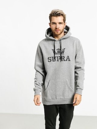 Mikina s kapucu00ed Supra Above HD (heather grey/grid)