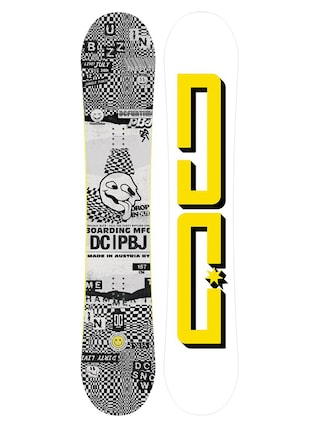 Snowboard DC Pbj (white/yellow/black)