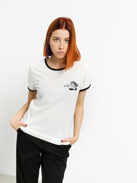 Tričko Volcom Keep Goin Ringer Wmn (star white)