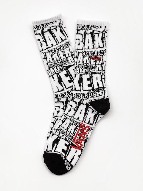 Ponožky Vans X Baker Crew (white baker)