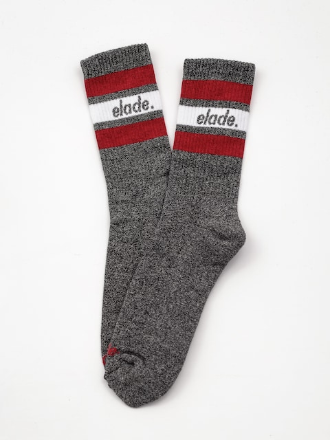 Ponožky Elade Stripes (dark grey/white/red)