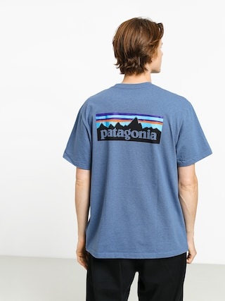 Tričko Patagonia Logo Responsibili (woolly blue)