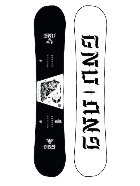 Snowboard Gnu Asym Riders Choice C2X (wolf/white)