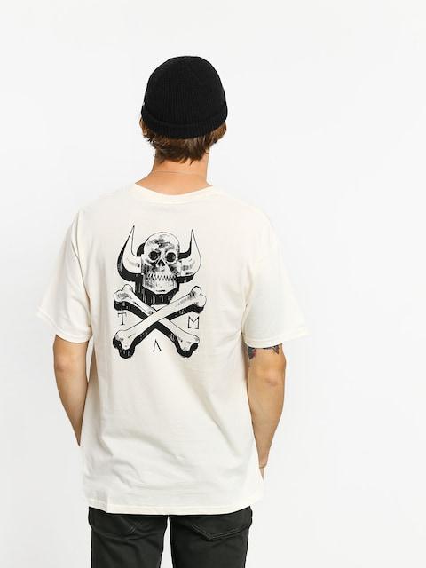 Tričko Toy Machine Skull X Bones (white)