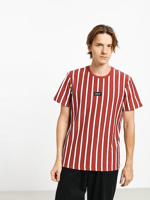 Tričko HUF Dexter Stripe (rose wood red)