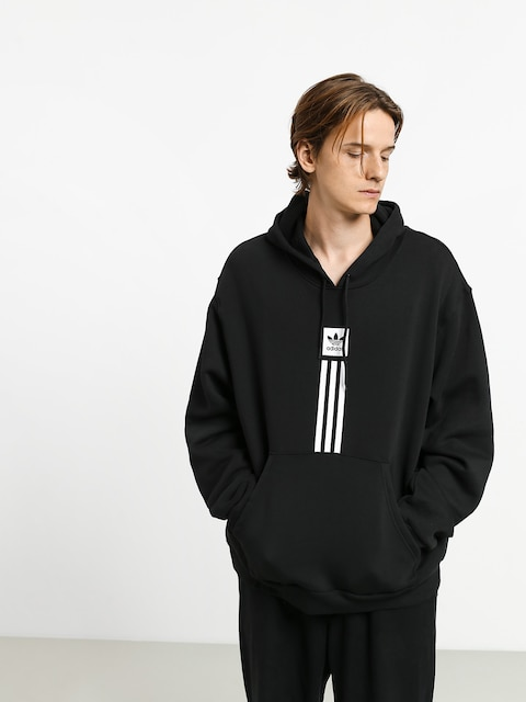 Mikina s kapucí adidas Solid Pillar HD (black/white)
