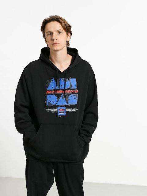 Mikina s kapucí adidas Toolkit HD (black/blue/scarlet)