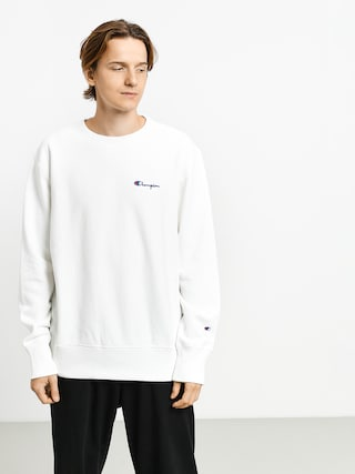 Mikina Champion Premium Reverse Weave Crewneck Left Chest Logo (wht)