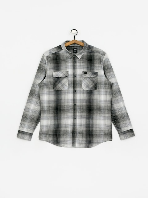 Košile RVCA Muir Flannel Ls (black/white)