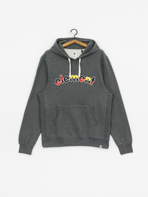 Mikina s kapucí Element Rainbow HD (mid grey htr)