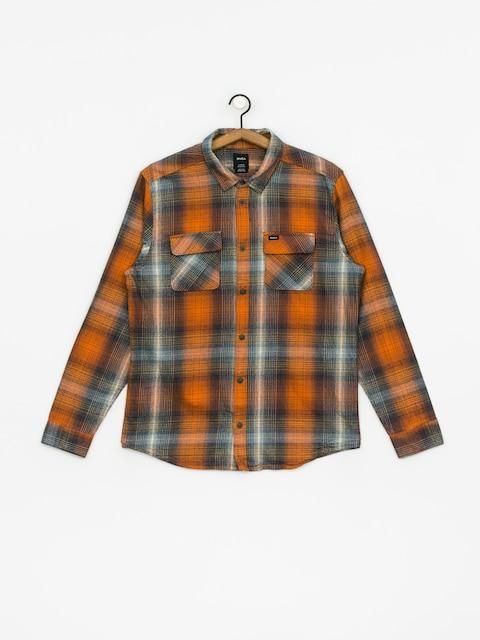Košile RVCA Muir Flannel Ls (rust orange)