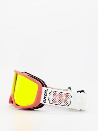 Brýle na snowboard Anon Deringer Wmn (white rose/sonar red)