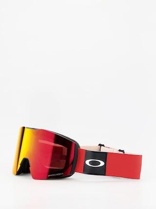 Bru00fdle na snowboard Oakley Fall Line XL (red/prizm snow torch iridium)