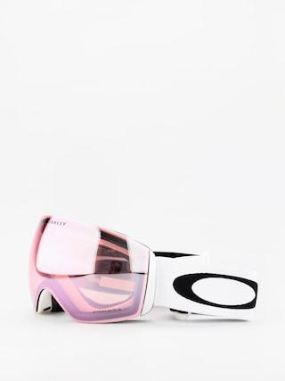 Bru00fdle na snowboard Oakley Flight Deck (matte white/prizm hi pink iridium)