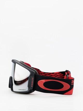Bru00fdle na snowboard Oakley Line Miner (harlaut sig shredbot red black/prizm snow black iridium)